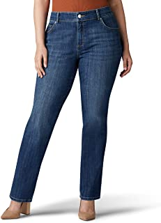 Lee Womens Plus Size Relaxed Fit Straight Leg Jean Jeans