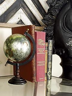 White//Gold Deco 79 57374 Aluminum and Marble Decorative Globe