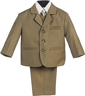 Avery Hill Infant Toddler Husky Boy's Dress Suit with Shirt Vest & Tie (5 Piece)