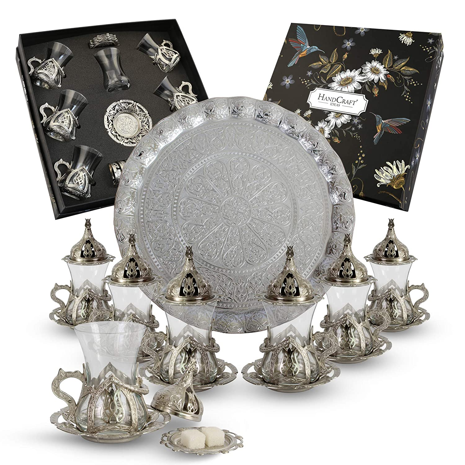 Our shop most popular HANDCRAFT IDEAS - Max 49% OFF Turkish Tea Set Glasses for Six Cups
