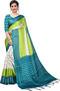 BHAKARWADi Women's Khadi Silk Saree With Blouse Piece