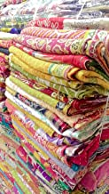 5 Pieces Mix Lot of Indian Tribal Kantha Quilts Vintage Cotton Bed Cover Throw Old Sari Assorted Patches Kantha Quilts Bed Covers Whole Sale Blanket My Crafts