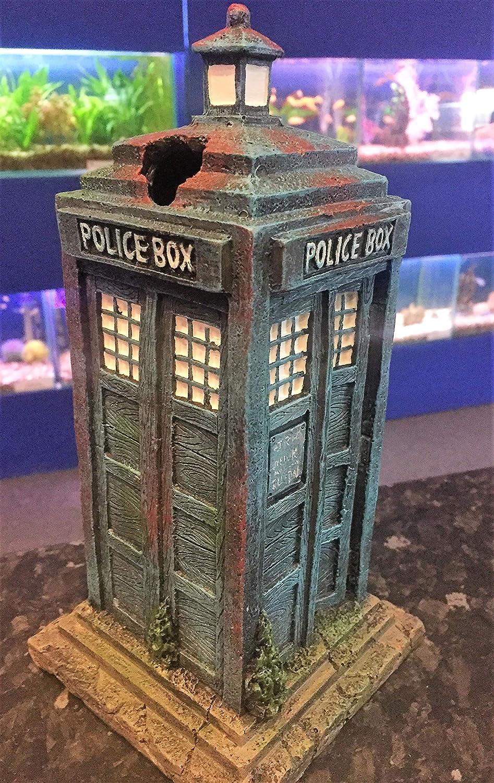 Caja de polic/ía para Acuario dise/ño de Tanque de Peces Mezzaluna Gifts Dr Who Tardis