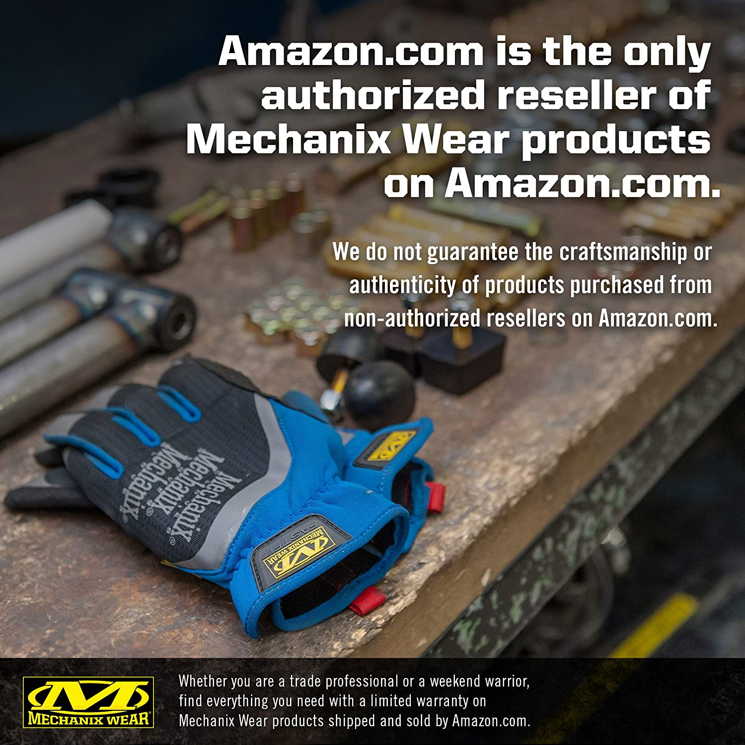 Mechanix Wear Gants FastFit/® M, bleu