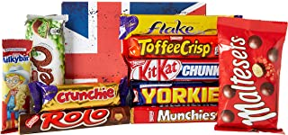 The Top 10 Favourite BRITISH Chocolate Bars Gift Box - By Moreton Gifts - Best Gift for Chocolate Lovers