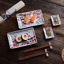 Panbado, Porzellan Japanisch Sushi Set, 8-teilig beinhaltet