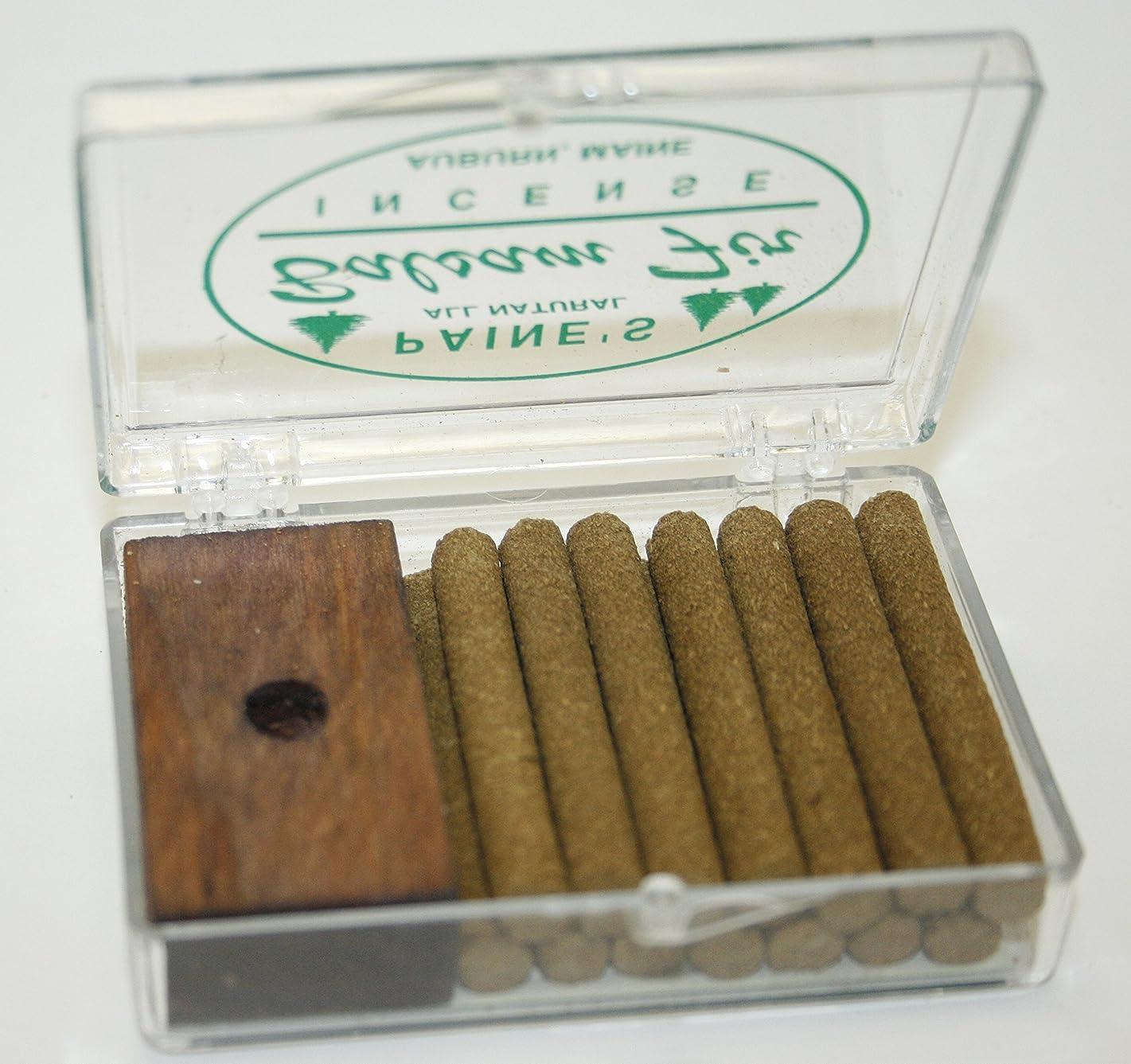 パドル急性食べるINCENSE & BURNER comes w/ 14 balsam fir sticks Paine's wood holder lodge style by Paine's