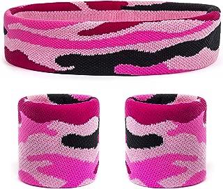 Suddora Camo Headband/Wrist Band Set - Camouflage Sweatbands for Basketball,  Tennis,  Working Out,  Gym