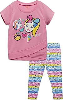 JoJo Siwa Girls Short Sleeve Fashion Top and Leggings Set