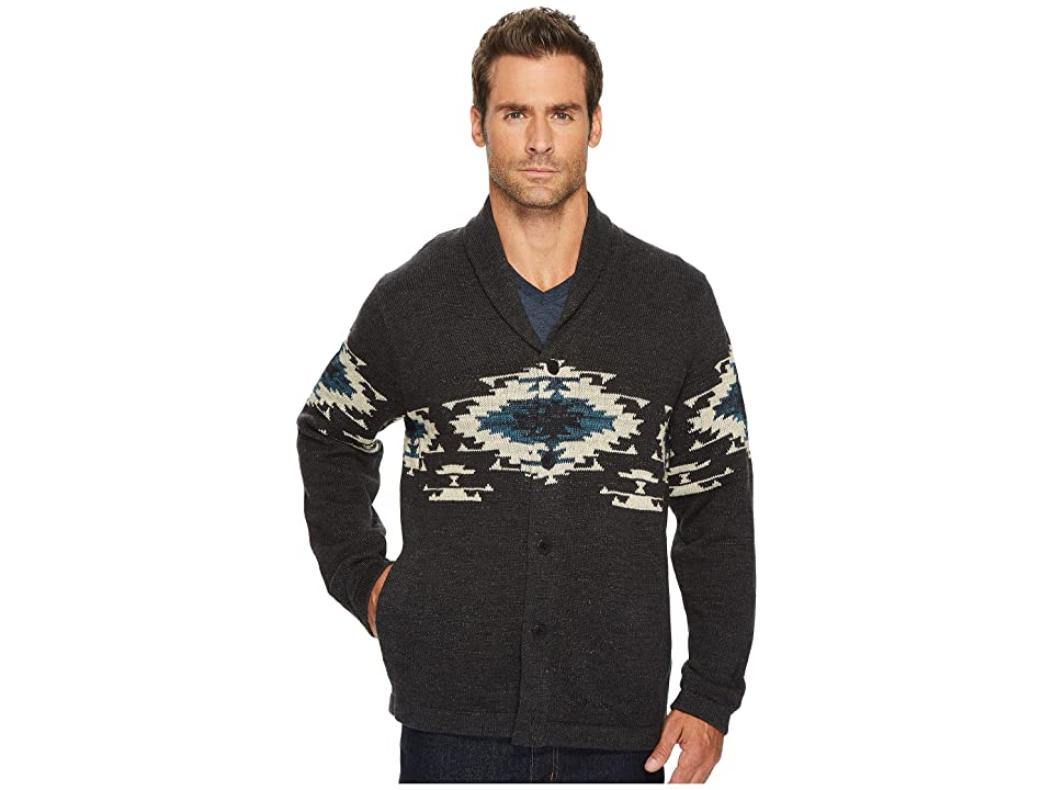 Lucky Brand Canyon Creek Shawl Sweater (Charcoal) Men