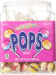 Smarties Pops 120 Piece Jar