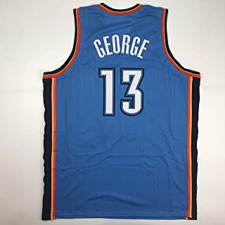 Unsigned Paul George Oklahoma City Blue Custom Stitched Basketball Jersey Size Men's XL New No Brands/Logos