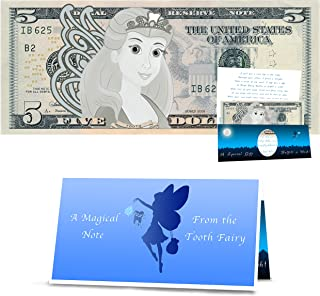 The Official Tooth Fairy Dollar Bill: Real 5.0 USD. Tooth Fairy Visit Gift Idea. Official Letter from The Tooth Fairy