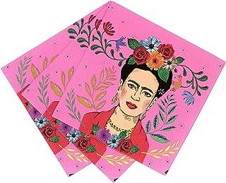 Talking Tables Boho-CNAPKIN Frida Kahlo Napkins | 20 Pack, Paper, Pink