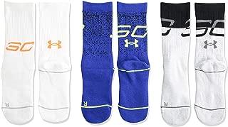 Under Armour Boy's SC30 Phenom Curry Crew Socks 3-Pair (Big Kid)