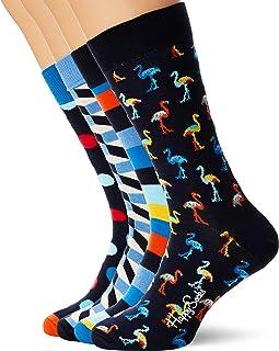 multicolore Happy Socks XBOB08-0100 Confezione regalo con 3 paia di pantaloni quadrati