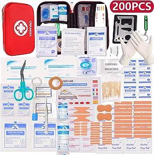 HONYAO Trousse de Premier Secours, Mini Boîte Médical, Boîte de d'urgence de Survie Extérieur pour Voiture Maison Lieu de ...