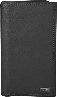 Relic by Fossil RML5804 Men's Mark Leather Checkbook Wallet, Black