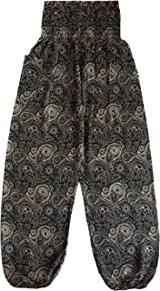 Love Quality Ladies Black Baggy Pants Thai Graphic Design
