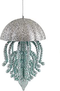 Caffco Oceanic Jellyfish Sparkling Hanging Christmas Ornament