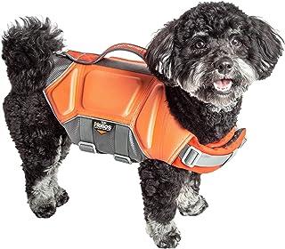 Dog Helios ® 'Tidal Guard' Multi-Point Strategically-Stitched Reflective Pet Dog Life Jacket Vest, Small, Orange