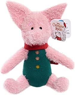 """Christopher Robin Just Play Friends 7"""" 7"""" Plush-Piglet, Pink"""
