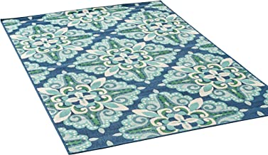 Amazon Com Green And Blue Outdoor Rug