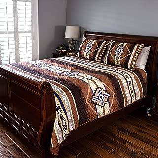 Cozy Fleece LLC Southwest Quilt Set King Beige
