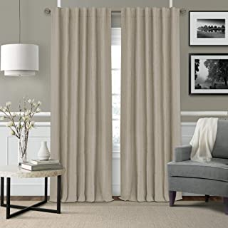 "Elrene Home Fashions Elrene Leila Matelasse Single Blackout Window Curtain Panel, 52""x95"" (1, Beige (Ecru)"
