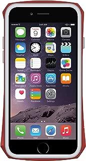 "SEIDIO TETRA Pro 极简透明背盖金属保护框,Red 红,适用于 Apple iPhone 6-4.7"""