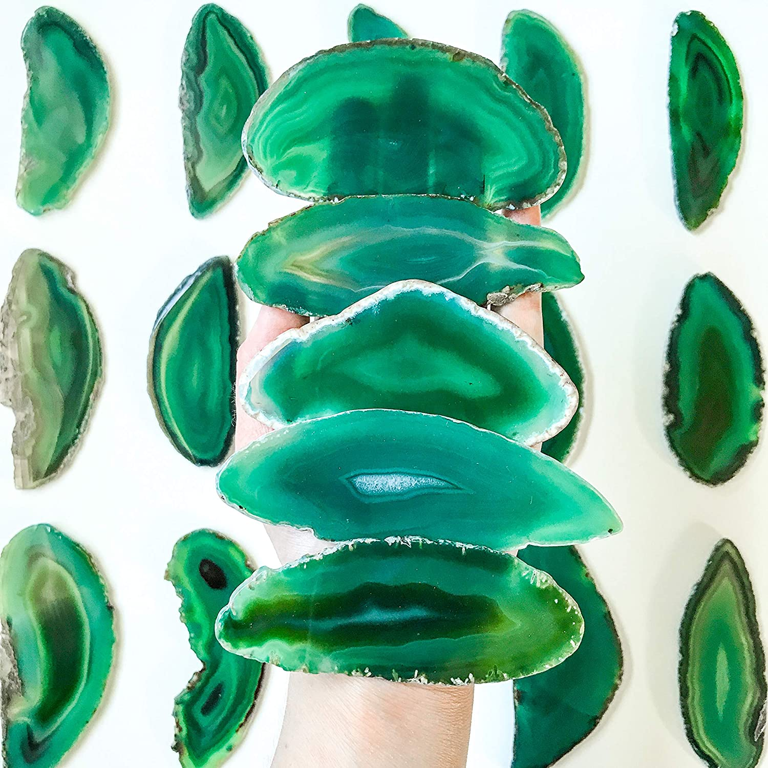 20 Green 3.75 Inch Virginia Beach Mall - 4.75 Large All items in the store A+ Q Agate Extra Placecards