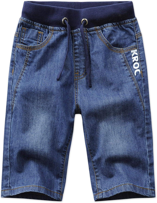 Et/é Coton V/êtements Denim Genou Longueur Taille Elastique Cordon de Serrage Pantalons Courts Unsvor Enfant Gar/çon Jeans Shorts