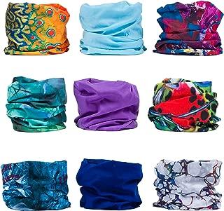 ERAN8 Headwear, Headband, Balaclava, Bandana, Seamless Sports Bandanas, Hair Buff, Wide Headbands for Women and Men, Workout, Yoga, Running, Fishing, Helmet Liner, Face Mask, Hair Scarf