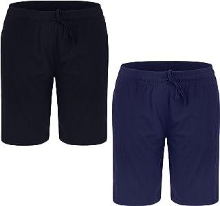 2 Pack Men's Lounge Wear Shorts Nightwear Super Soft Comfy Cotton Pyjama Bottoms M-2XL