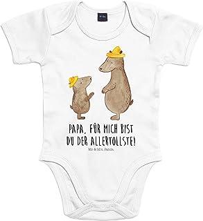 Mr. & Mrs. Panda Mr. & Mrs. Panda Strampler, Babysuit, 3-6 Monate Baby Body Bären mit Hut mit Spruch - Farbe Transparent