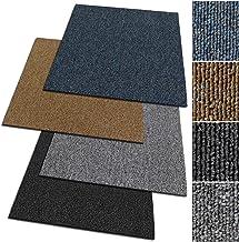 Design Teppichfliesen Kairo 50x50 cm selbstliegend antistatisch mit Bitumen R/ücken 1 m/² Set A5 Blau, 4 St/ück strapazierf/ähiger Teppich Bodenbelag mit hochwertigem Schlingenflor