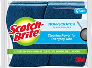 Scotch-Brite Non-Scratch Scrub Sponge, 4-Sponges/Pk, 12-packs (48 Sponges Total)