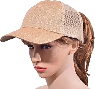 Beurlike Ponytail Baseball Cap High Bun Ponycap Adjustable Mesh Trucker Hats b5d6713a682d