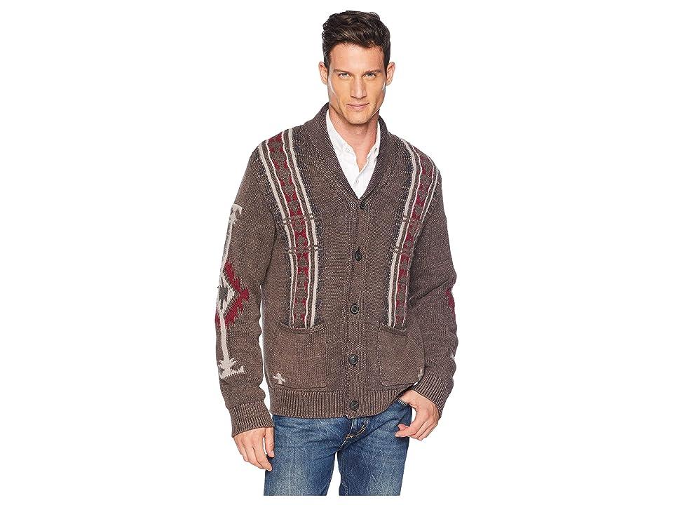 Lucky Brand Navajo Cardigan Sweater (Multi) Men
