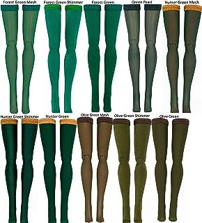 Dark Green Doll Stockings for 1/4 Scale BJD dolls - Dollshe - Fairyland - Volks - BJD - Luts - Minifee - Doll Chateau