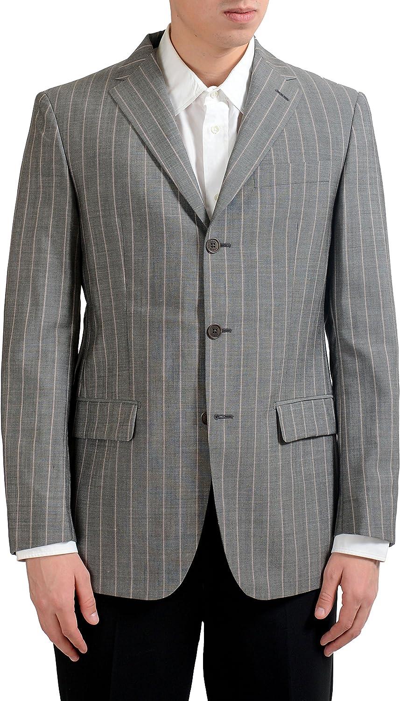 Gianfranco Ferre Men's Wool Mohair Striped Blazer Sport Coat US 40R IT 50R