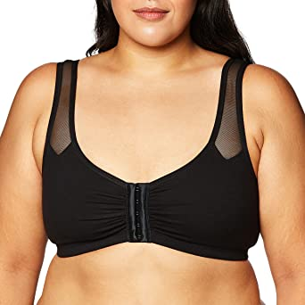 Fruit of the Loom Womens FT715 Comfort Front Close Sport Bra with Mesh Straps Sports Bra