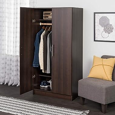 "Prepac Elite Wardrobe Cabinet, 32"", Espresso"