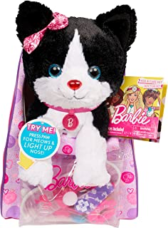 Barbie Vet Bag Set -Black Brown White Kitty with Pink Backpack