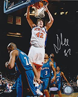 DAVID LEE SIGNED 8x10 PRO PHOTO FILE PICTURE NEW YORK KNICKS DUNK vs WIZARDS COA