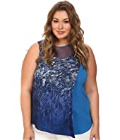 Mynt 1792 - Plus Size Overlay Drape Top