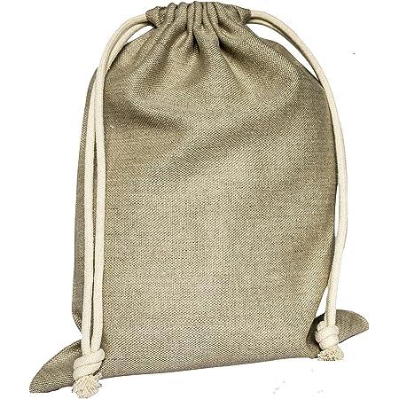 jomas design Sac à pain 100 % lin - 30 x 40 cm - Durable et respectueux de l'environnement - Réutilisable