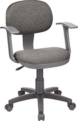 ナカバヤシ オフィスチェア デスクチェア 椅子 肘つき グレー CGN-102N