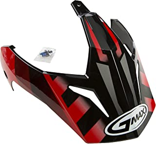 GMAX Unisex-Adult G011050 Replacement Visor Gm11 Black/Red One Size
