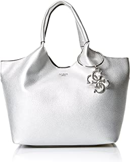 GUESS Flora Metallic Shopper SIL